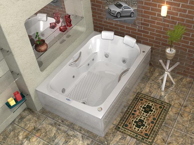 Banheira Dupla Cordoba dupla Albacete -> Qual Tamanho De Banheiro Com Banheira